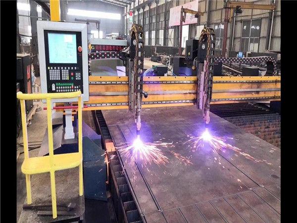 Екі қабатты гантри CNC плазмалық кескіш машина H сәулесін шығару линиясы гипертермалық CNC жүйесі