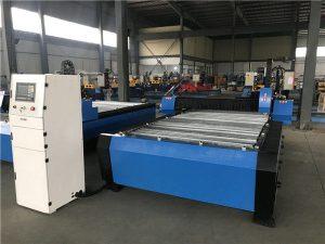 үлкен 2000 * 6000 мм cnc металл табақтан жасалған плазмалық кескіш бұрғылау машинасы